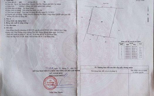 1000m2 đất nông nghiệp, Nhơn Đức, Nhà Bè